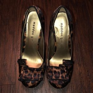 "Madden Girl ""Savvyy"" satin leopard print heels"